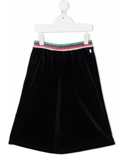 Czarna spódnica w paski z aksamitu Billieblush