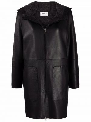Черное пальто с карманами P.a.r.o.s.h.