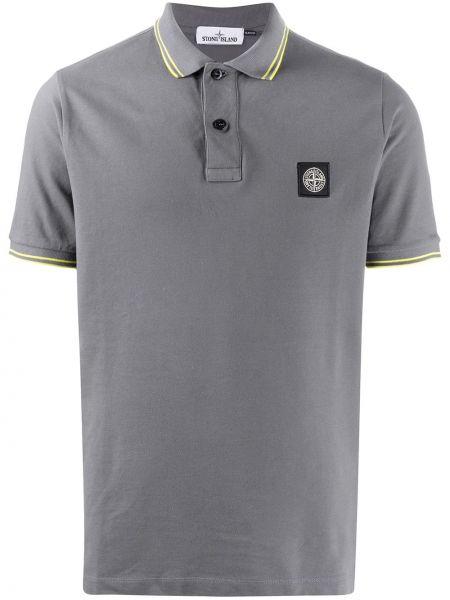 Koszula krótkie z krótkim rękawem klasyczna z logo Stone Island