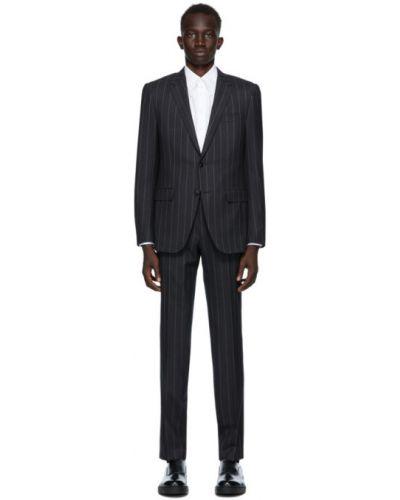 Брючный белый брючный костюм в полоску Ermenegildo Zegna