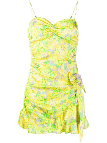 Тонкое платье мини на бретелях со вставками на молнии For Love & Lemons