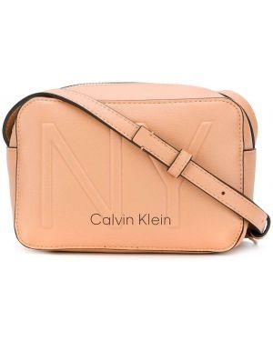 Песочная сумка через плечо с перьями Calvin Klein