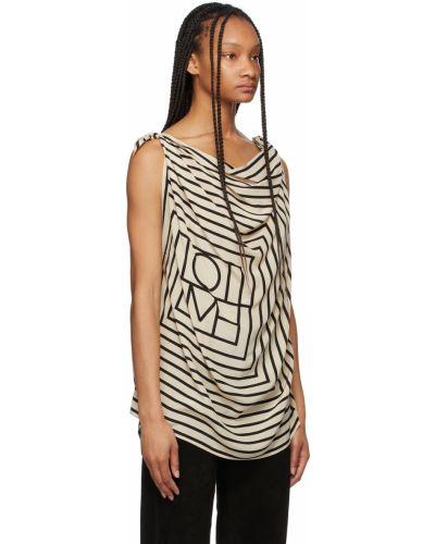 Шелковая блузка - черная Toteme