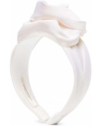 Białe opaska do włosów Jennifer Behr