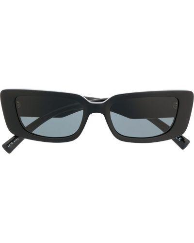 Золотистые черные солнцезащитные очки прямоугольные металлические Versace Eyewear