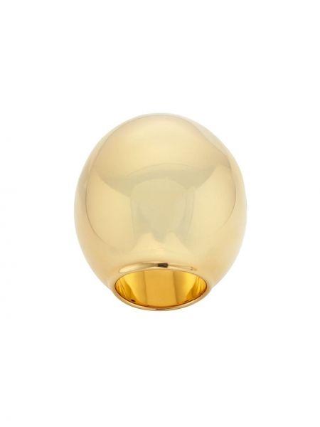 Золотистое кольцо золотое Fendi
