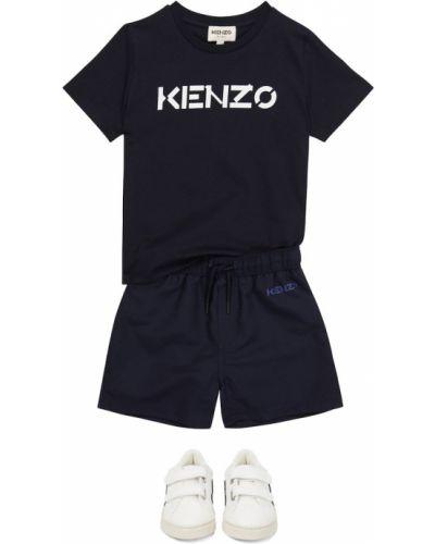 Niebieskie kąpielówki Kenzo Kids