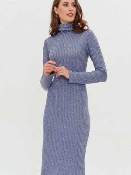 Вязаное серое платье Masha Mart