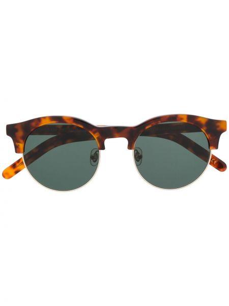 Муслиновые солнцезащитные очки круглые хаки Han Kjøbenhavn