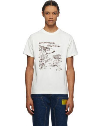 Хлопковая с рукавами коричневая рубашка с короткими рукавами с воротником Phipps