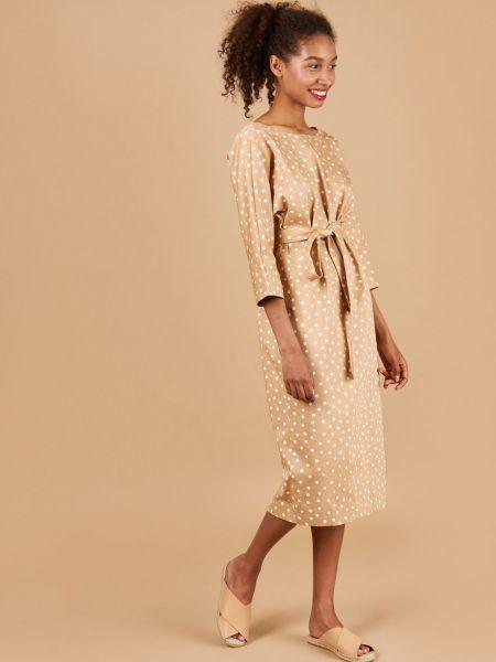 Платье миди на пуговицах с вырезом 12storeez