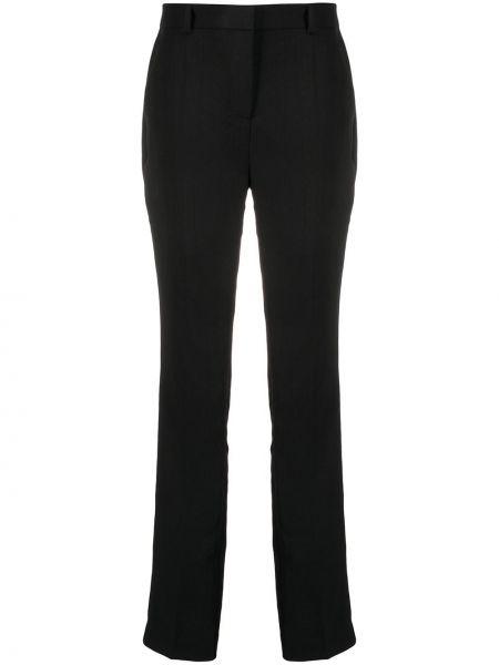 Черные прямые брюки с поясом с высокой посадкой Ba&sh