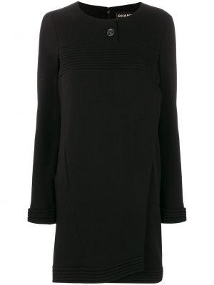 Платье с запахом винтажное на пуговицах в рубчик Chanel Pre-owned