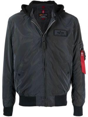 Черная куртка MA-1 с капюшоном на молнии Alpha Industries