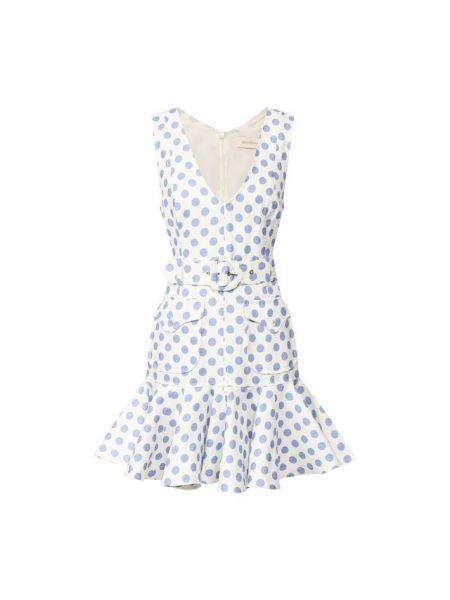 Платье с поясом в горошек льняное Zimmermann