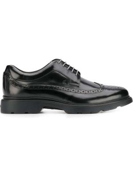 Buty brogsy skórzany czarny Hogan