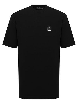 Черная итальянская футболка Palm Angels