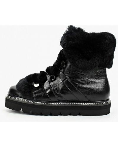 Черные кожаные ботинки Grand Style