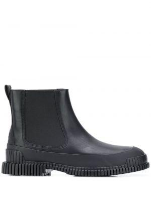 Черные кожаные ботинки челси на каблуке Camper