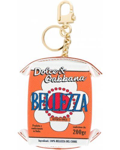 Оранжевый брелок Dolce & Gabbana