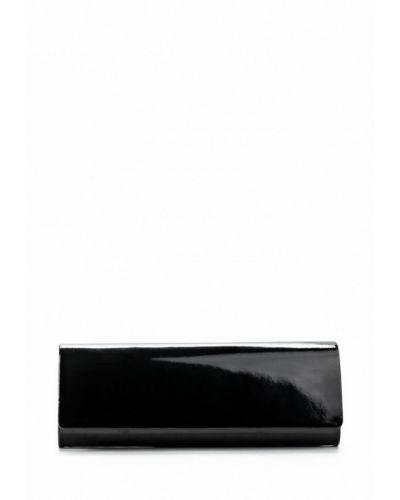 Черный кожаный клатч Olga Berg
