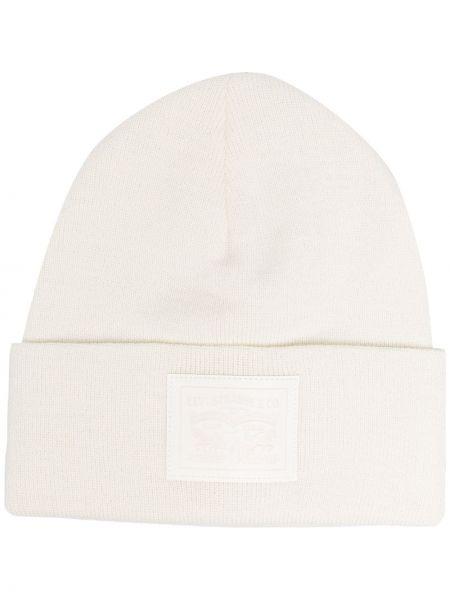 Вязаная шапка бини - белая Levi's®