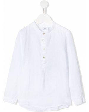 Белая туника с длинными рукавами на пуговицах Knot
