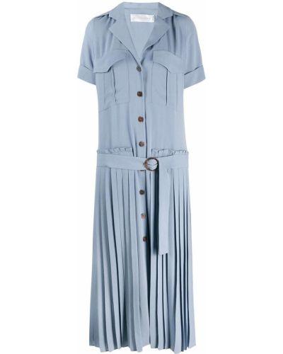 Платье макси на пуговицах плиссированное Victoria Beckham