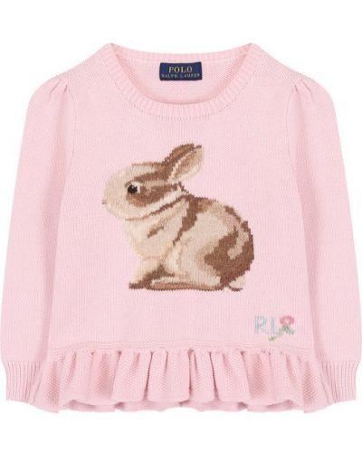 Розовый свитер Polo Ralph Lauren