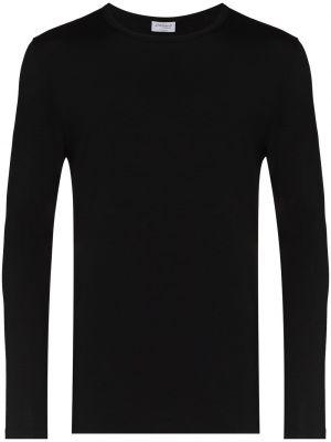 Черная футболка длинная Zimmerli