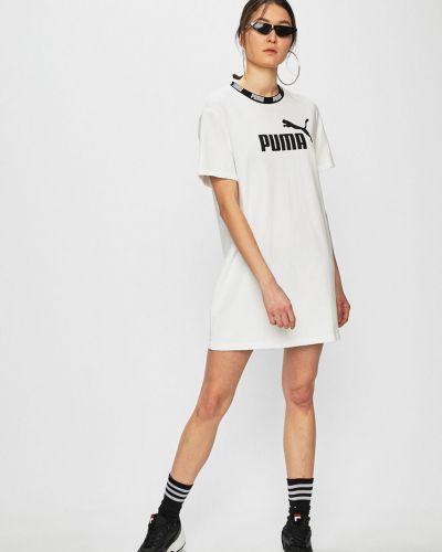 Платье мини однотонное свободного кроя Puma