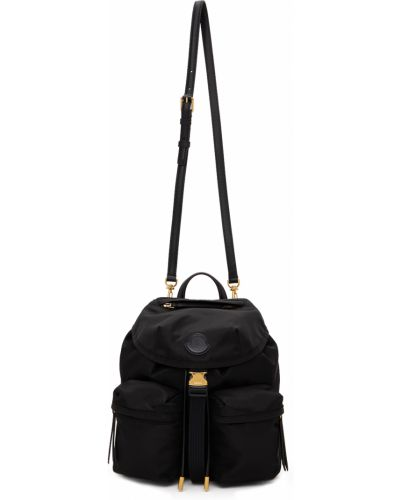 Czarny plecak z klamrą Moncler