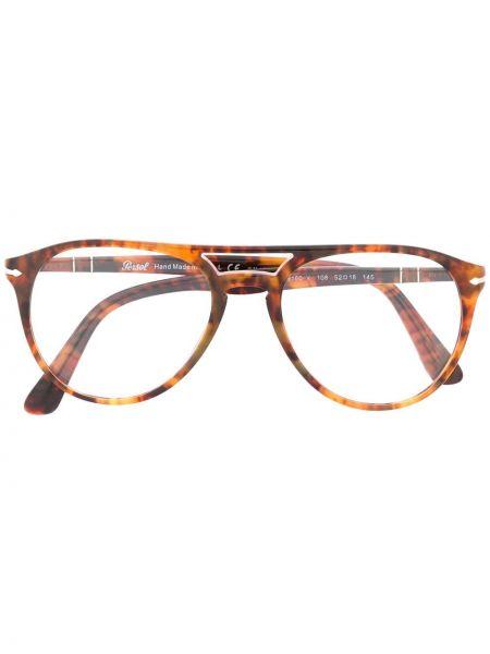 Коричневые очки круглые Persol
