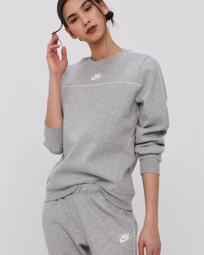 Szara bluza długa z kapturem z długimi rękawami Nike Sportswear