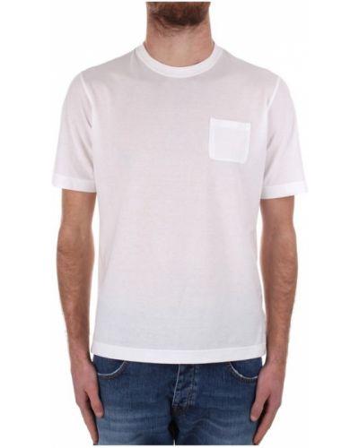 Biała koszulka krótki rękaw Zanone