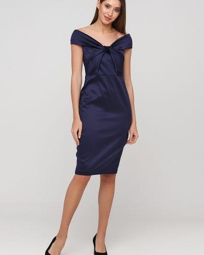 Облегающее синее коктейльное платье Goddiva