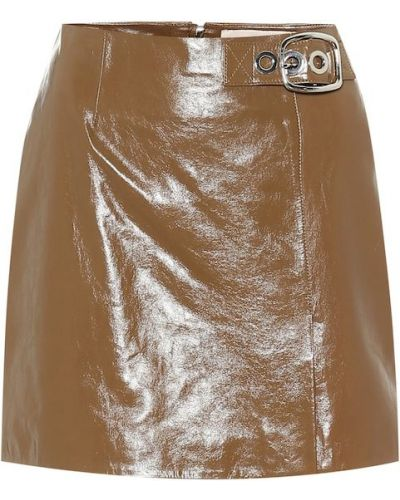 Brązowa spódnica skórzana Alexachung