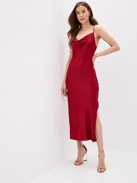 Красное весеннее платье-комбинация платье Imocean