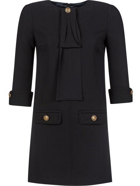 Прямое платье - черное Elisabetta Franchi