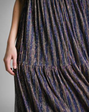 Вечернее платье миди в полоску Emka