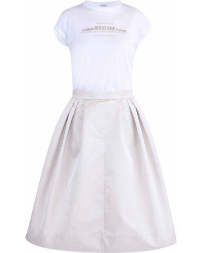 Платье с поясом со складками с надписью Brunello Cucinelli
