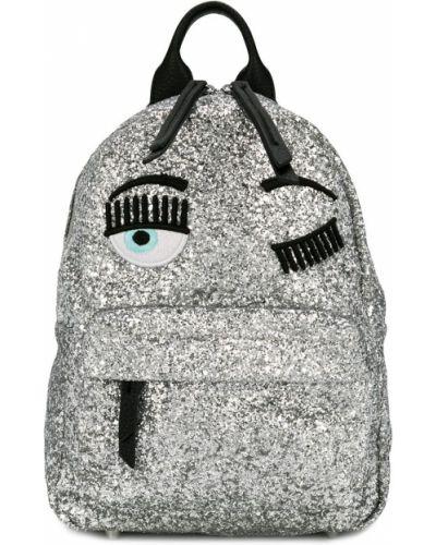 Серебряный рюкзак с аппликациями Chiara Ferragni Kids