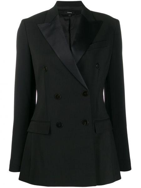 Черный пиджак с манжетами Theory