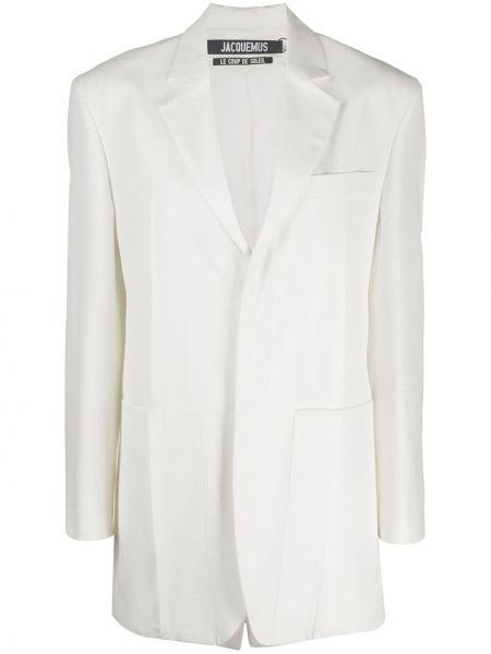 Белый пиджак с карманами на пуговицах Jacquemus
