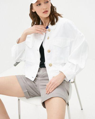 Белая джинсовая куртка United Colors Of Benetton