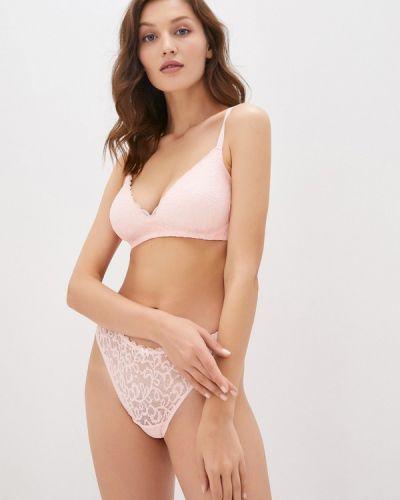 Розовый бюстгальтер из плотной ткани дефиле