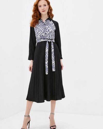 Черное платье-рубашка Cavo