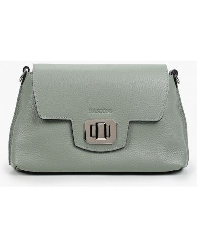 Зеленая кожаная сумка Basconi