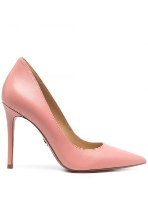 Кожаные розовые туфли-лодочки на каблуке Michael Michael Kors