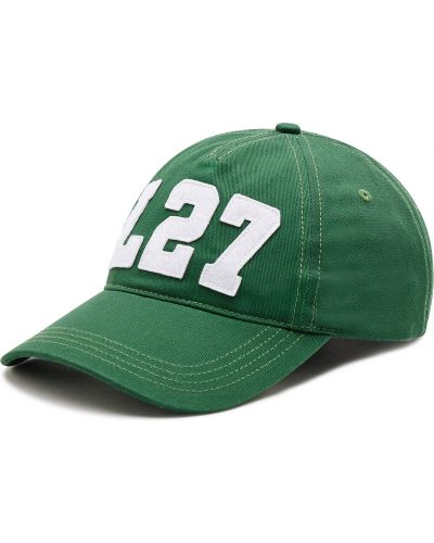 Zielona czapka z daszkiem Lacoste